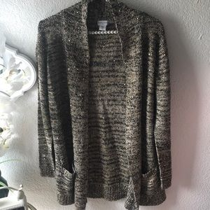 Cardigan with sparkling.